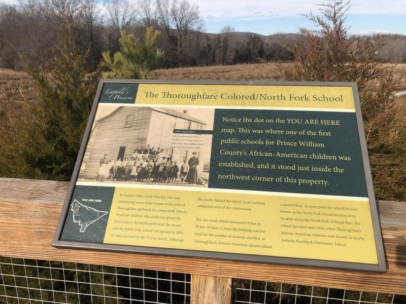 The Thoroughfare Colored / North Fork School Marker image. Click for full size.