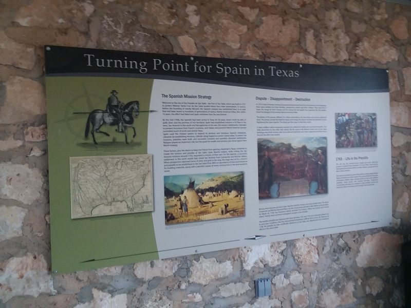 Turning Point for Spain in Texas Marker image. Click for full size.