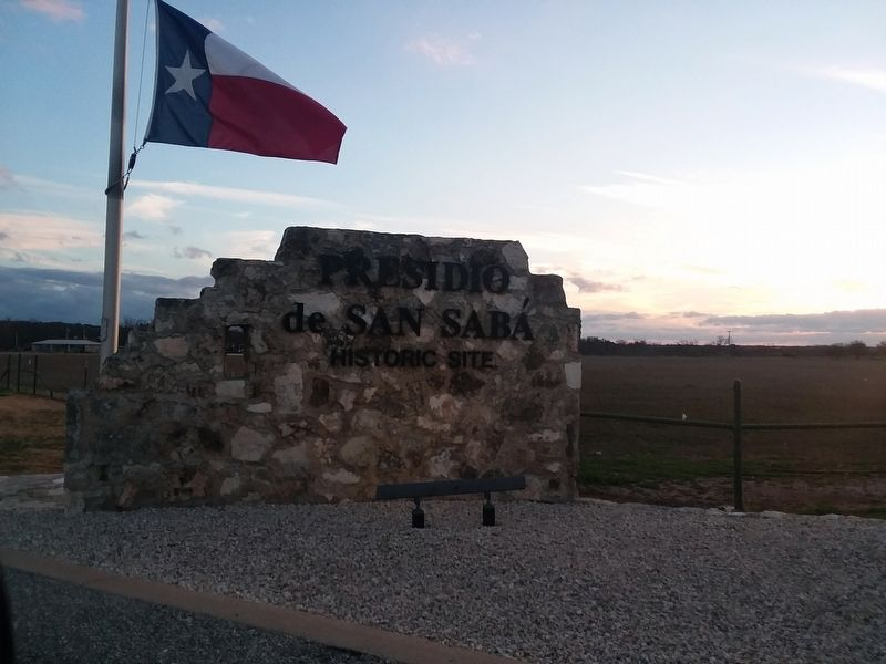 Presidio de San Saba County Park Sign image. Click for full size.