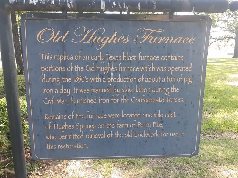 Old Hughes Furnace Marker image. Click for full size.