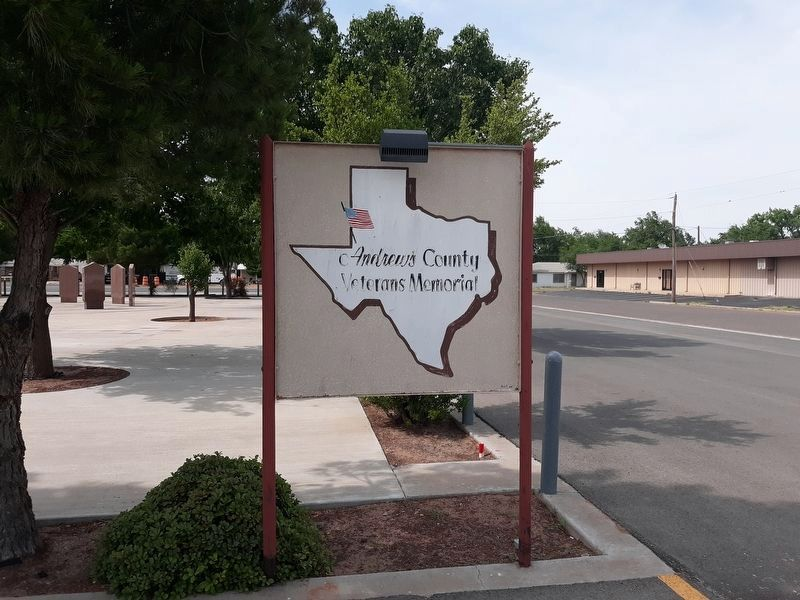 Andrews County Veterans Memorial Sign image. Click for full size.