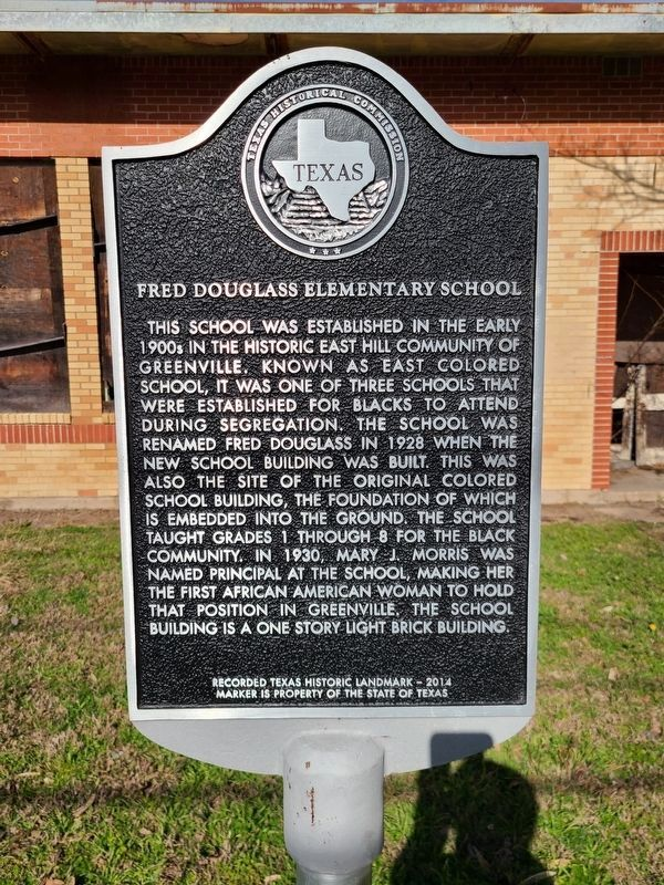 Fred Douglass Elementary School Marker image. Click for full size.