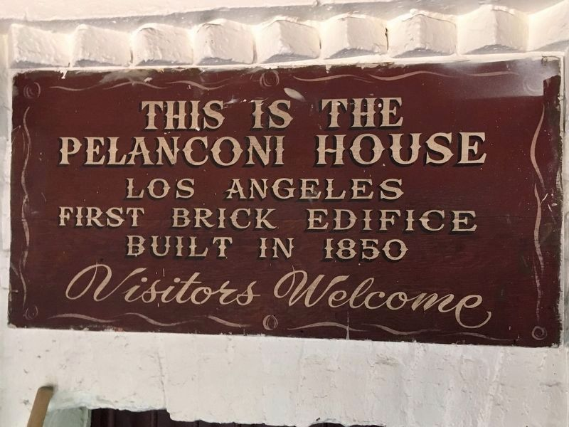 Pelanconi House Sign image. Click for full size.