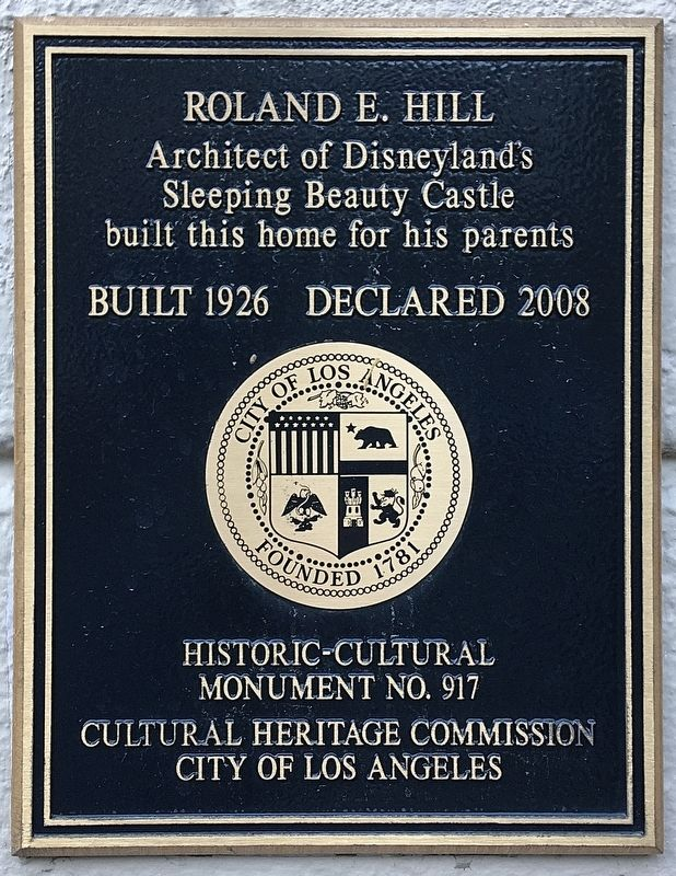 Roland E. Hill House Marker image. Click for full size.
