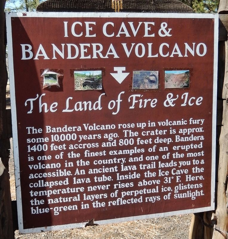 Ice Cave & Bandera Volcano Marker image. Click for full size.