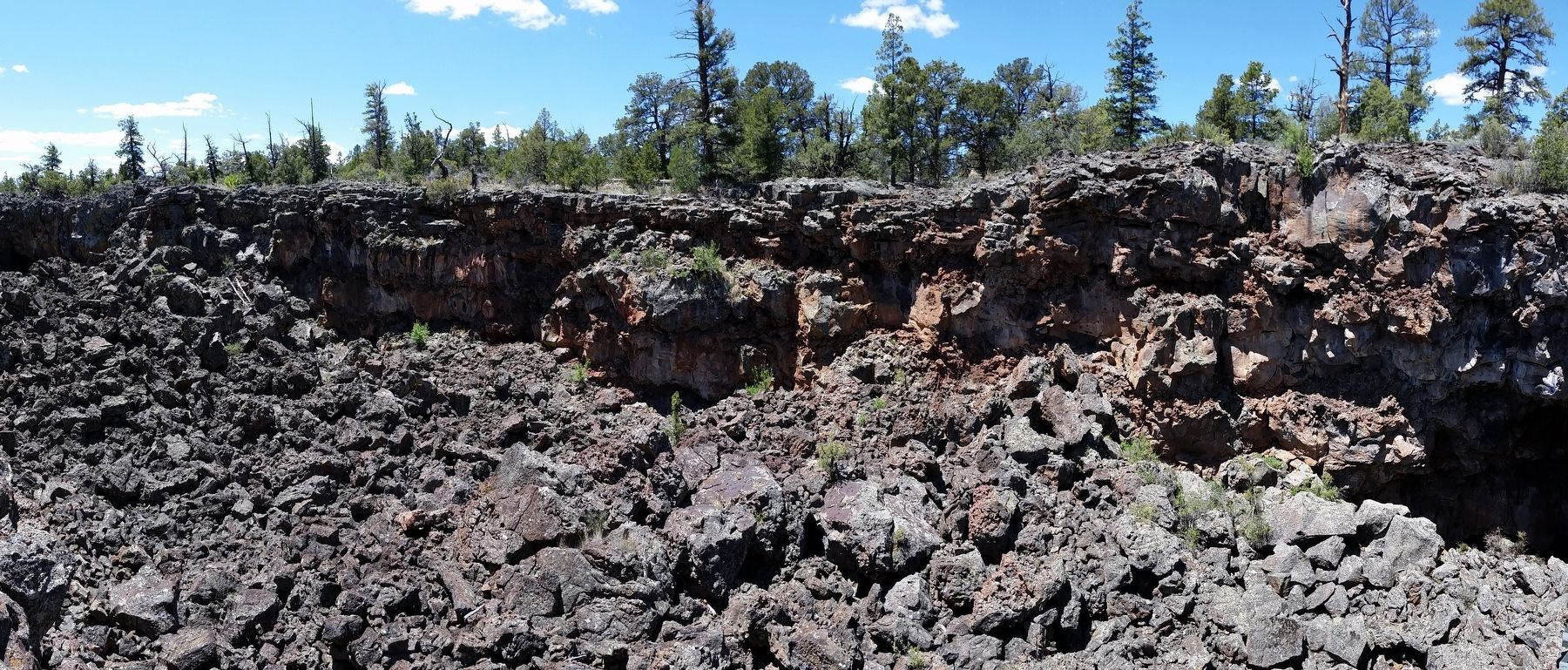 Collapsed Lava Tube image. Click for full size.