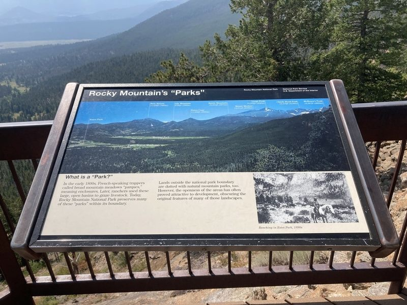 "Rocky Mountain's ""Parks"" Marker image. Click for full size."