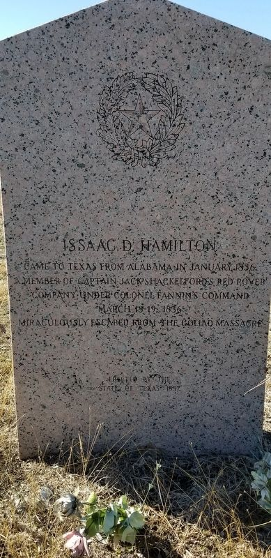 Issaac D. Hamilton Marker image. Click for full size.