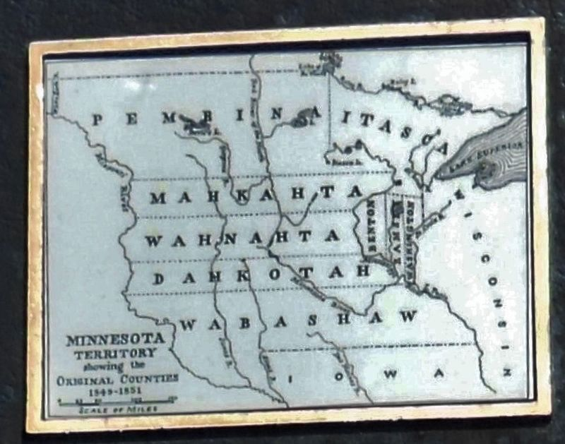 Marker detail (<i>side 1</i>): Original Minnesota Counties image. Click for full size.