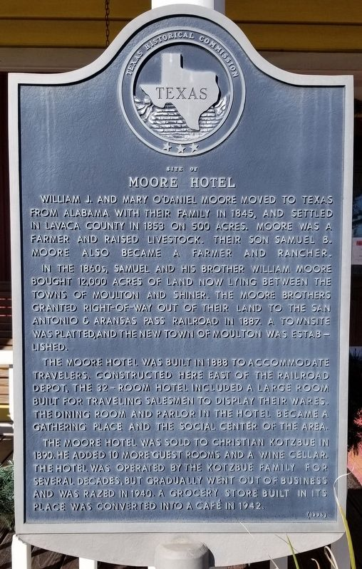 Site of Moore Hotel Marker image. Click for full size.