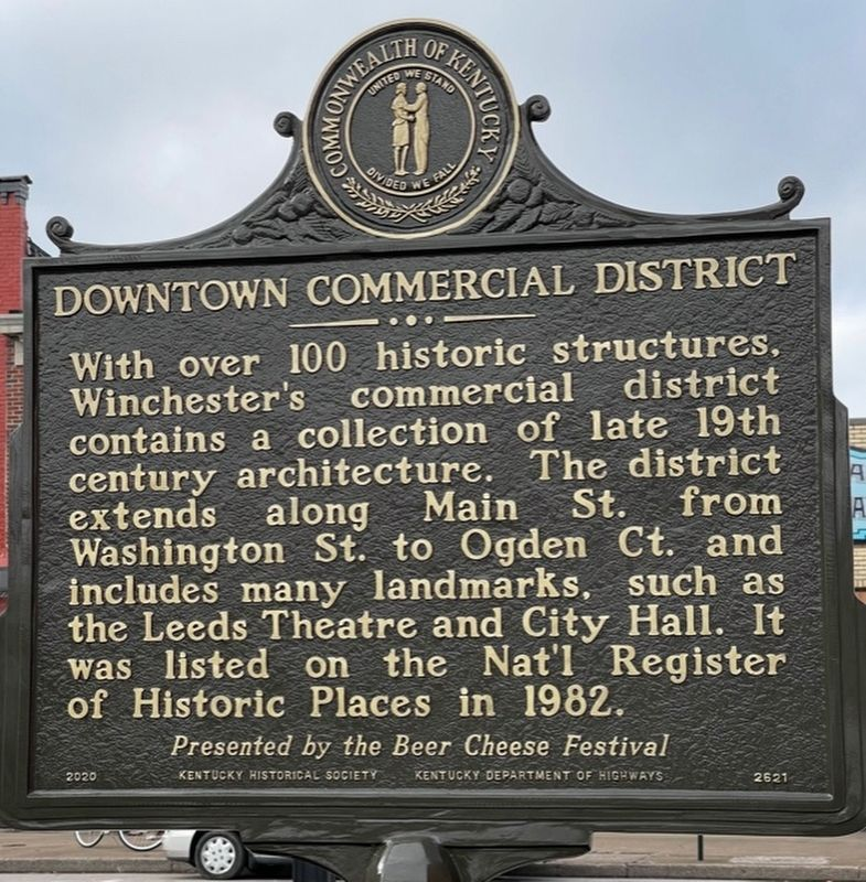 Downtown Commercial District Marker image. Click for full size.