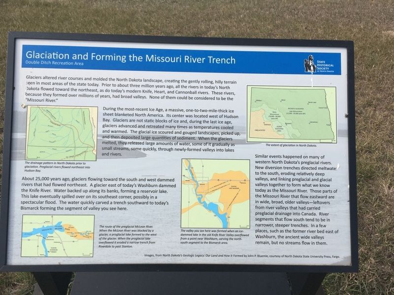 Glaciation and Forming the Missouri River Trench Marker image. Click for full size.