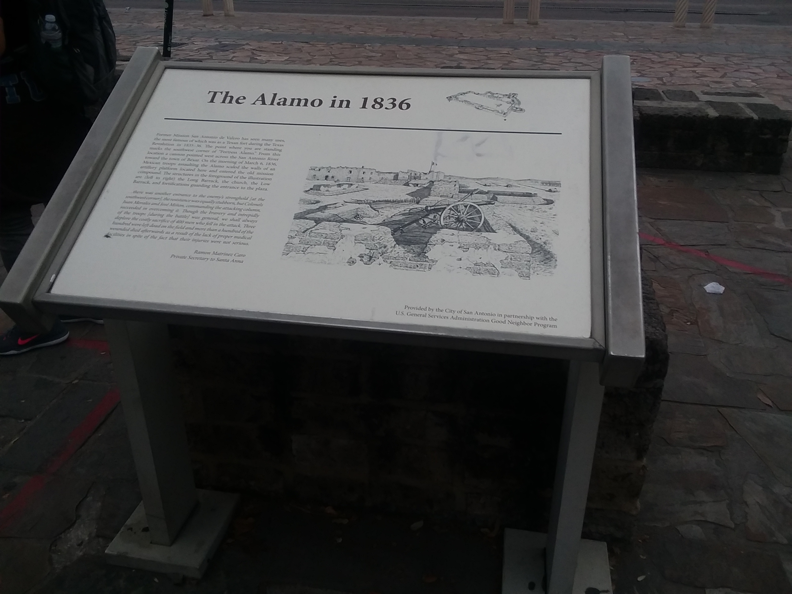 The Alamo in 1836 Marker