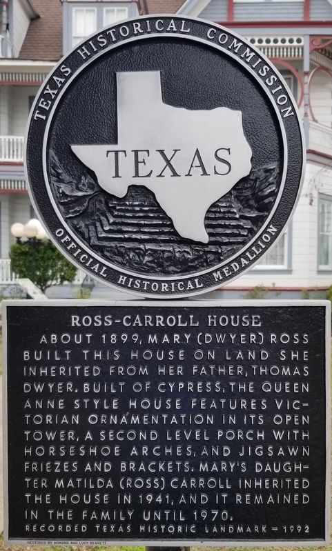 Ross-Carroll House Marker image. Click for full size.
