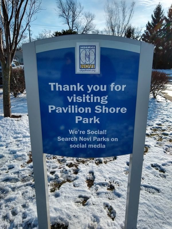 Sign Next to the Pavilion Shore Park: Honoring a Rich History Marker image. Click for full size.