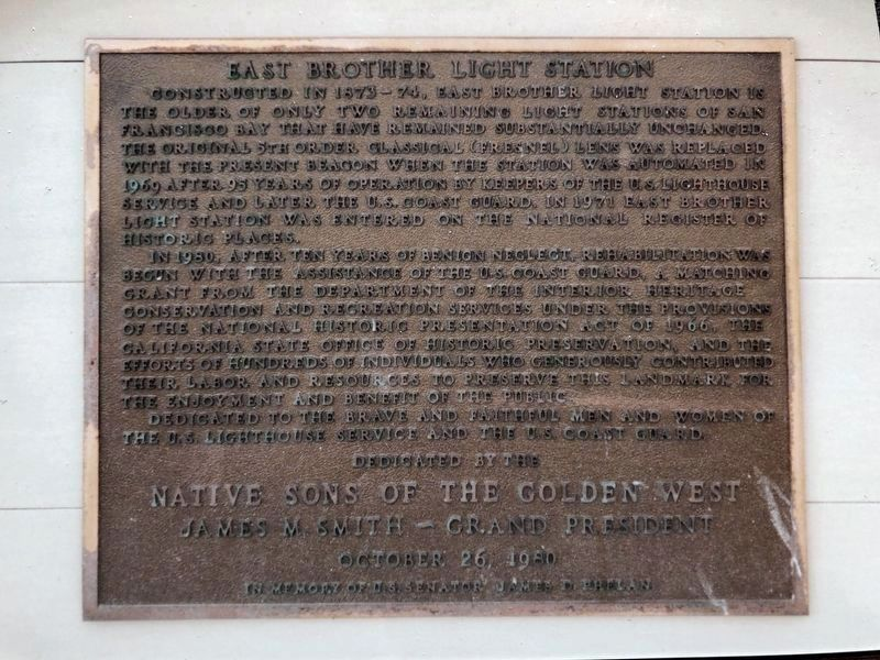 East Brother Light Station Marker image. Click for full size.