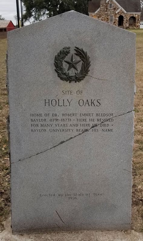Site of Holly Oaks Marker image. Click for full size.