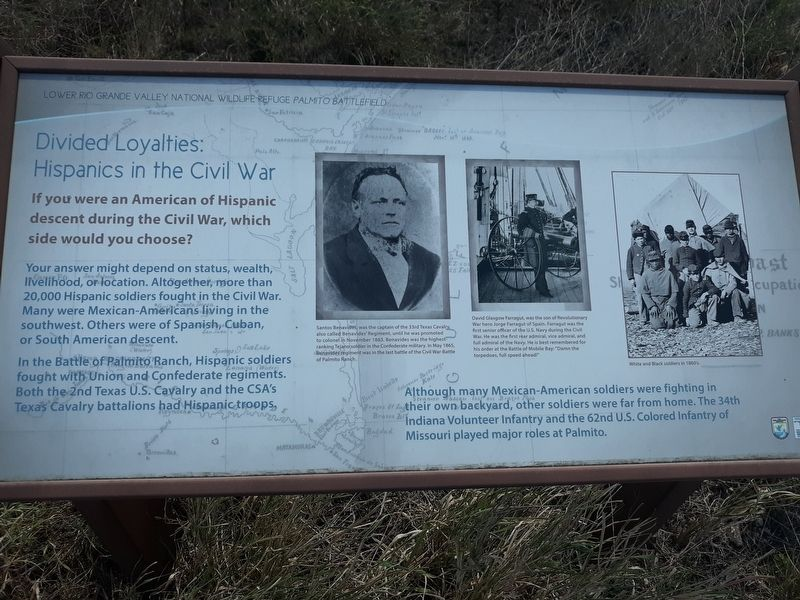 Lower Rio Grande Valley National Wildlife Refuge Palmito Battlefield Marker image. Click for full size.