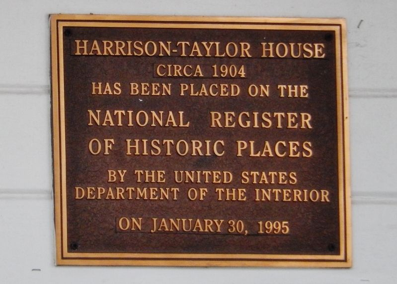 Harrison-Taylor House Marker image. Click for full size.