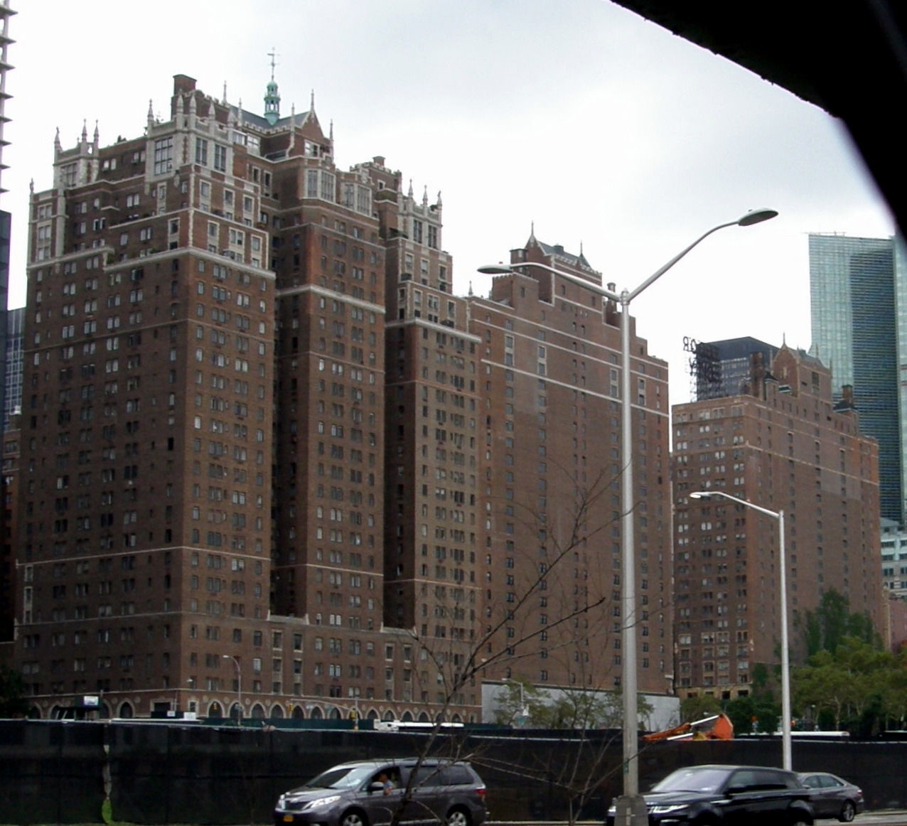 The First avenue side of Tudor City
