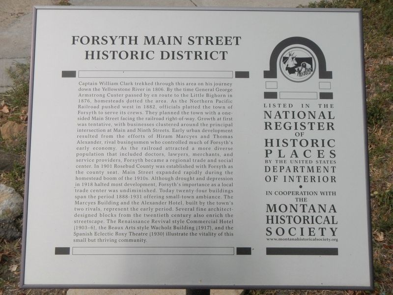 Forsyth Main Street Historic District Marker image. Click for full size.