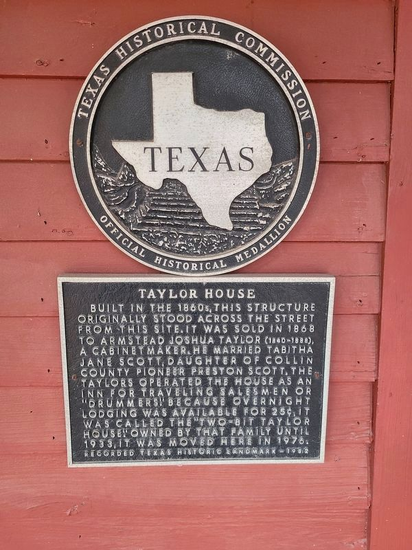 Taylor House Marker image. Click for full size.