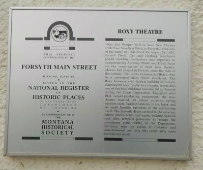 Roxy Theatre Marker image. Click for full size.