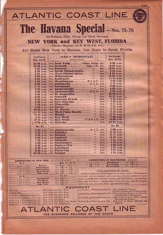 "The Havana Special — ""51½ Hours New York to Havana"" image. Click for full size."