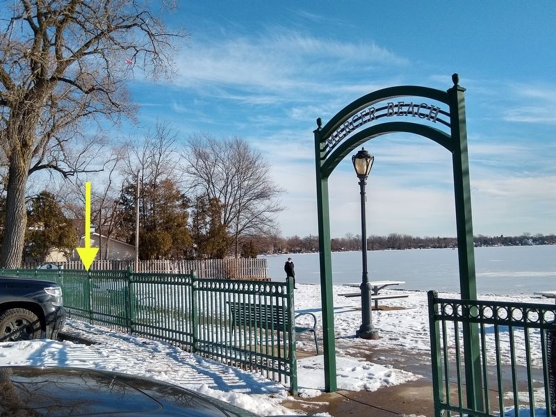 Walled Lake Marker image. Click for full size.