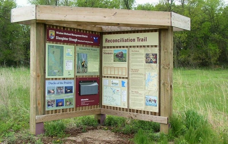 Slaughter Slough Waterfowl Production Area kiosk image. Click for full size.