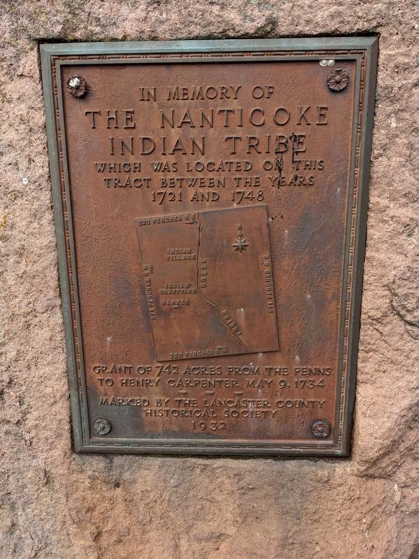 The Nanticoke Indian Tribe Marker image. Click for full size.