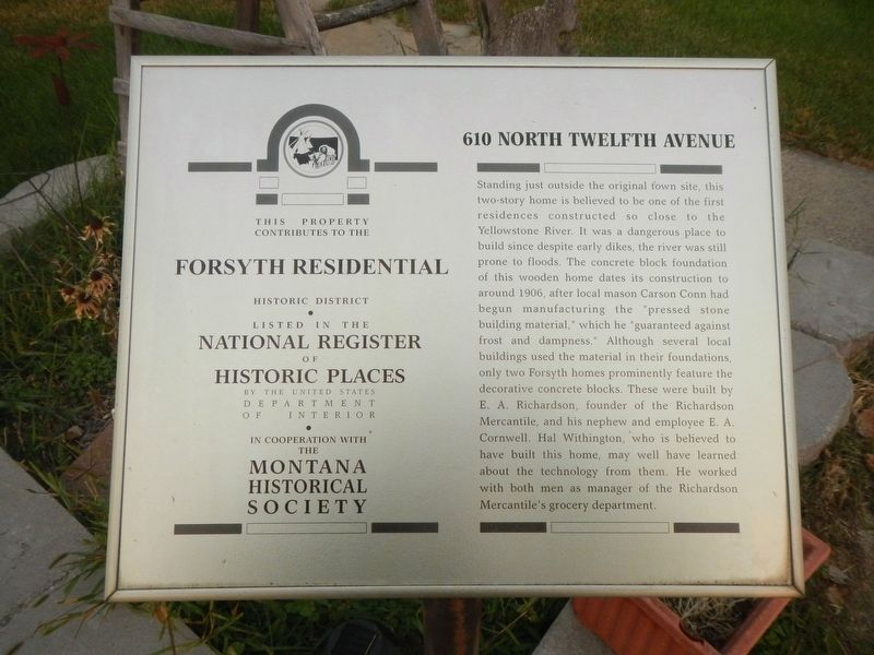 610 North Twelfth Avenue Marker image. Click for full size.