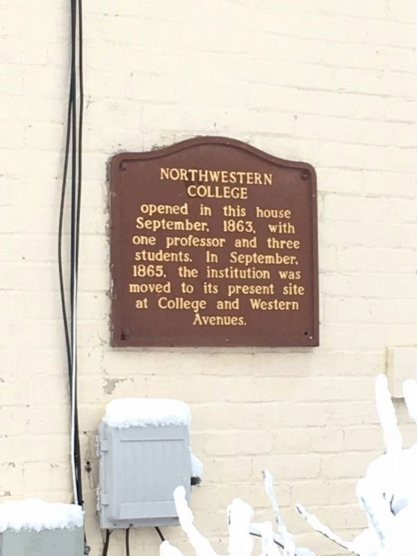 Northwestern College Marker image. Click for full size.