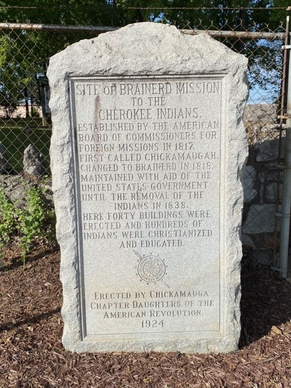 Site of Brainerd Mission to the Cherokee Indians Marker image. Click for full size.
