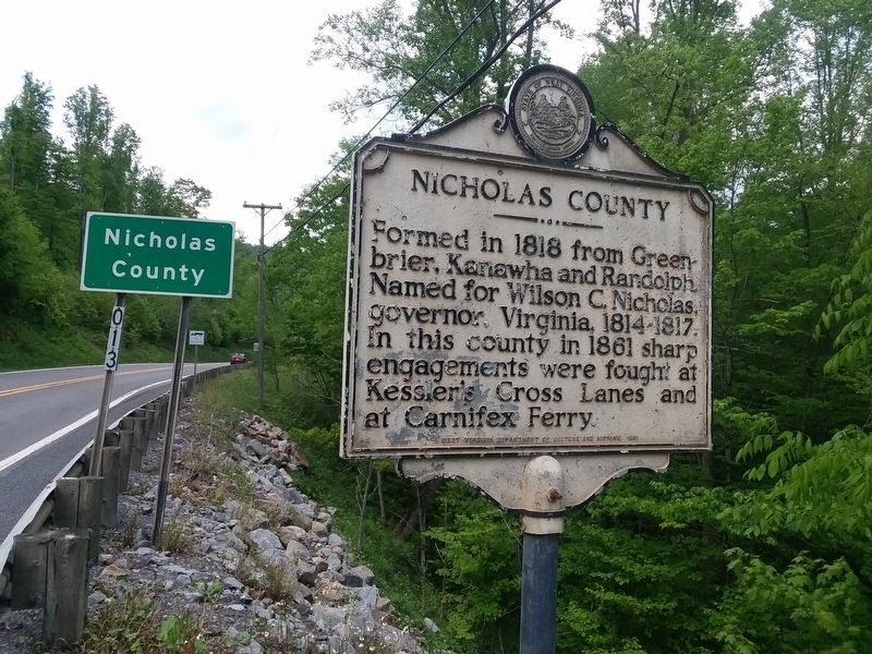 Nicholas County Marker image. Click for full size.