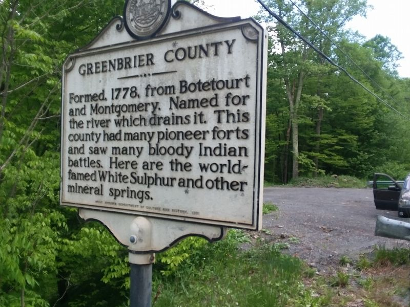 Greenbrier County Marker image. Click for full size.