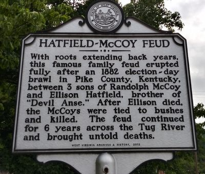 Hatfield-McCoy Feud Marker image. Click for full size.
