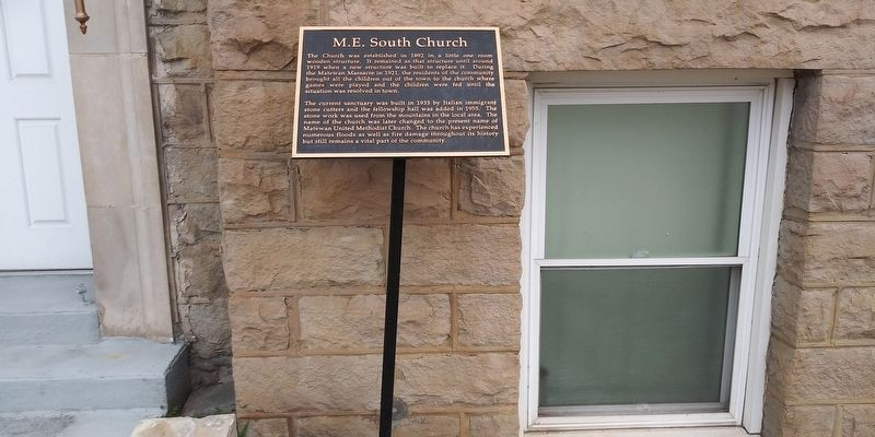 M.E. South Church Marker image. Click for full size.