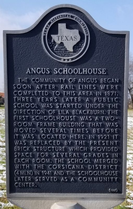 Angus Schoolhouse Marker image. Click for full size.