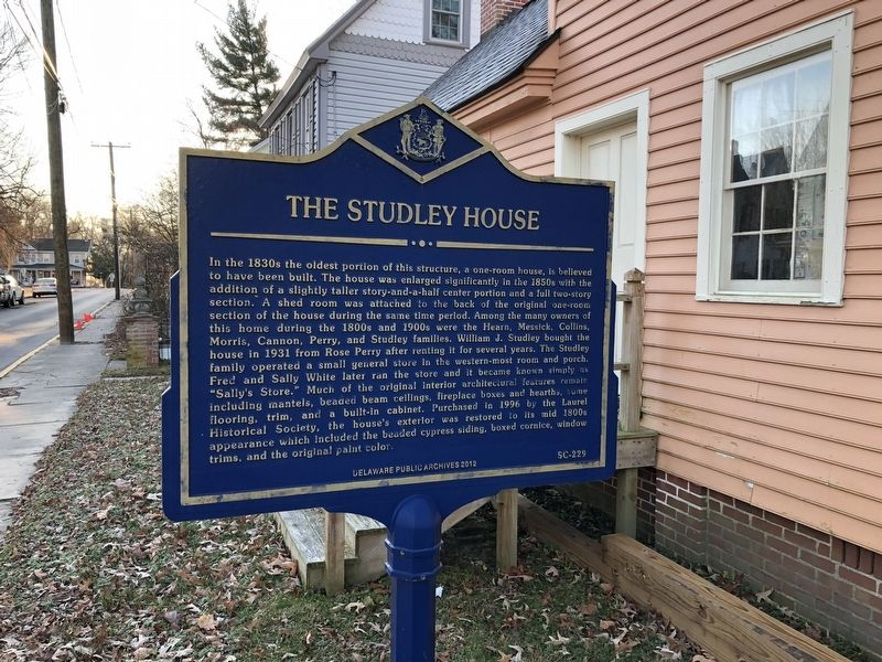 The Studley House Marker image. Click for full size.