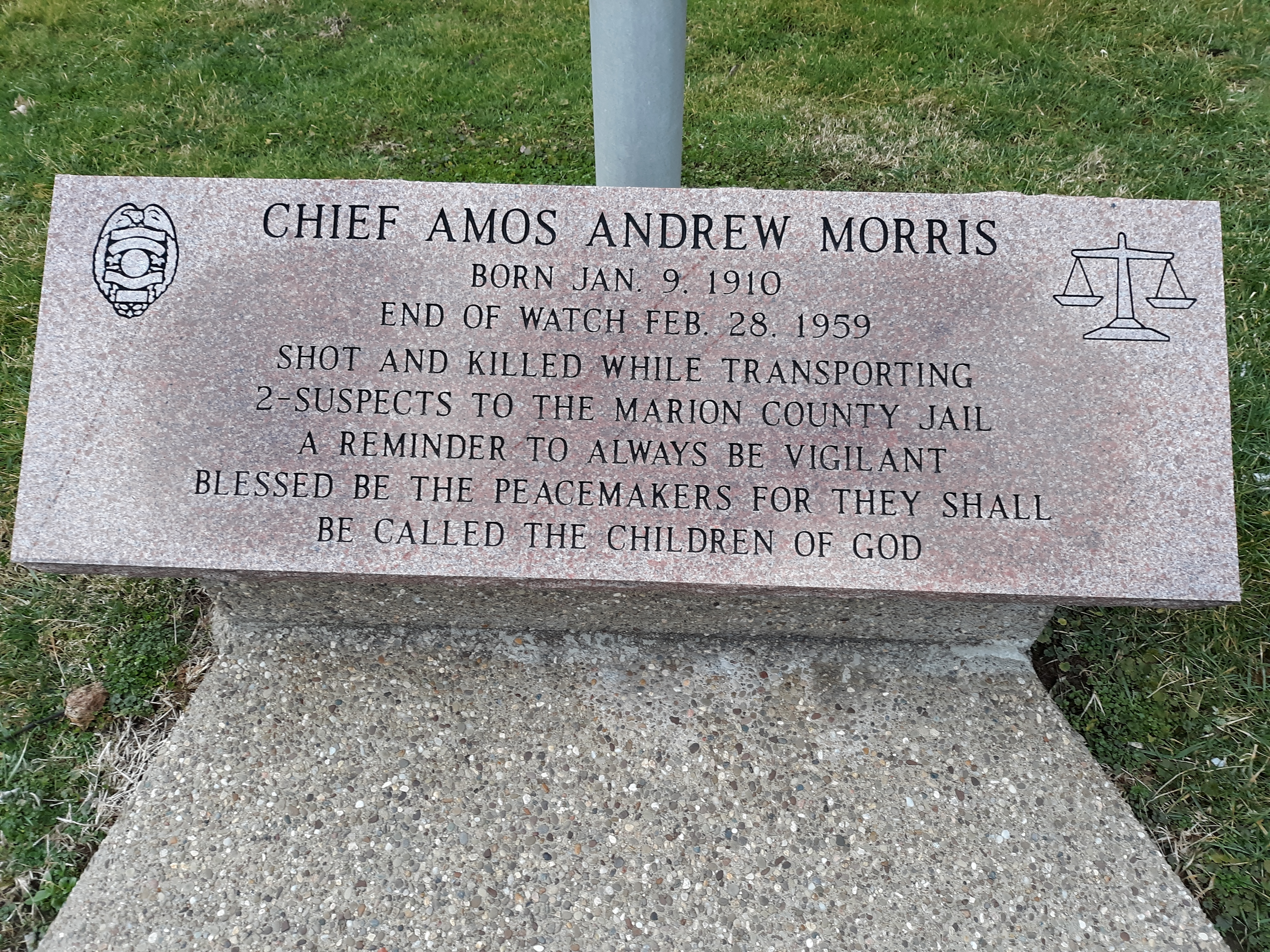 Chief Amos Andrews Morris Marker