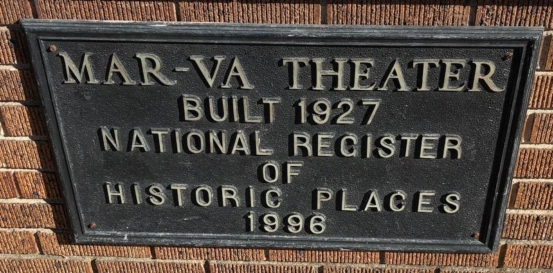 Mar-Va Theater Marker image. Click for full size.