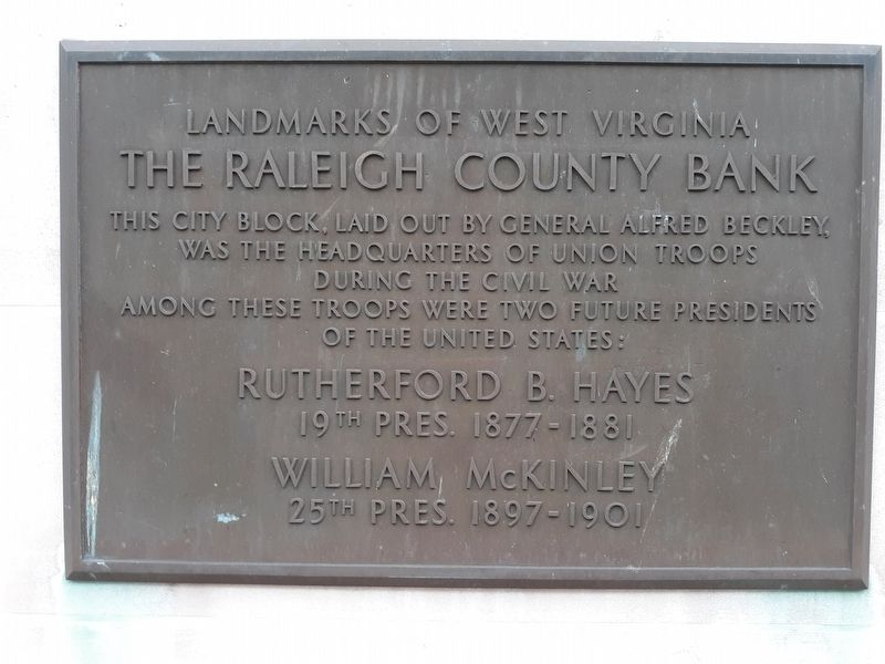 The Raleigh County Bank Marker image. Click for full size.