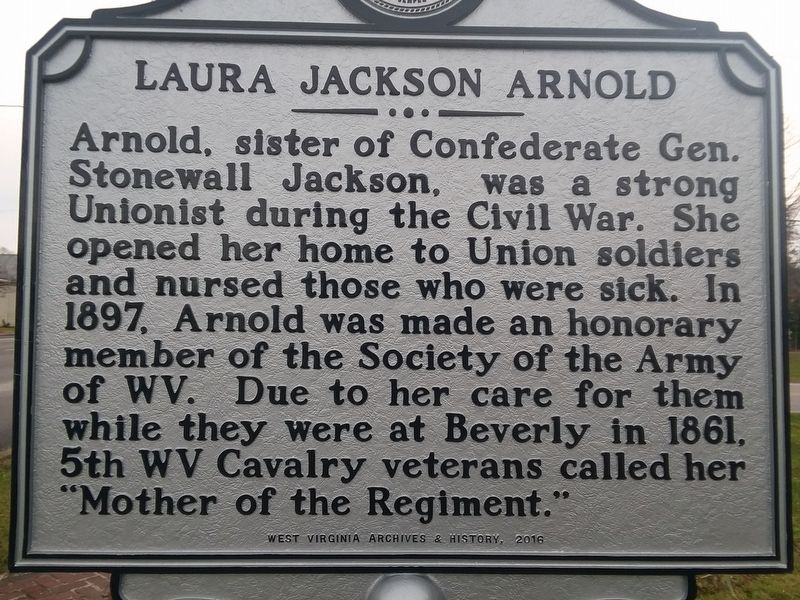 Laura Jackson Arnold Marker image. Click for full size.
