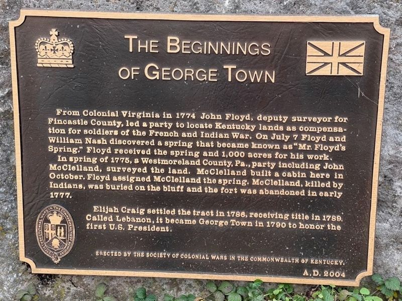 The Beginnings of George Town Marker image. Click for full size.