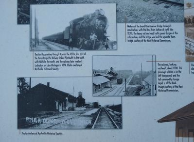 Novi's Crucial Crossing: The Train Station and the Grand River Bridge Marker — bottom left images image. Click for full size.