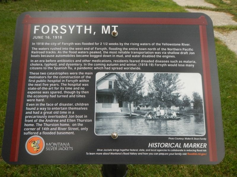 Forsyth, MT Marker image. Click for full size.