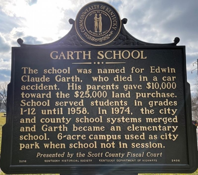Garth School Marker image. Click for full size.