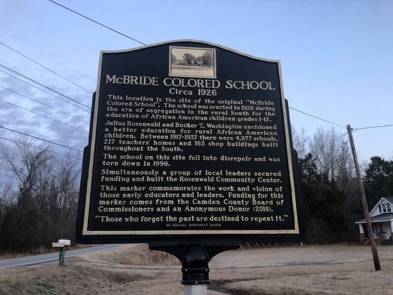 McBride Colored School Marker image. Click for full size.