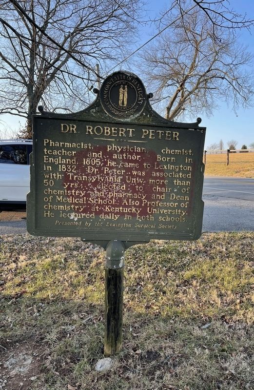 Dr. Robert Peter Marker image. Click for full size.